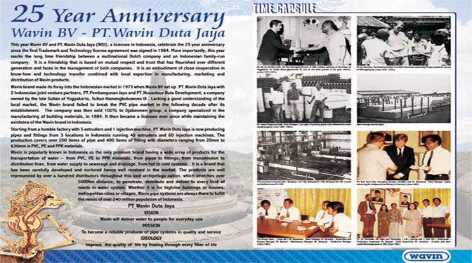 25 Year Anniversary Wavin BV - PT Wavin Duta Jaya