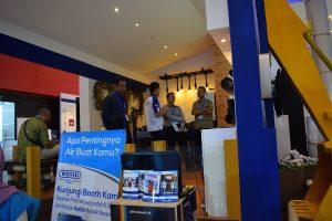 Presentasi Wavin Aquacel kepada pengunjung melalui monitor