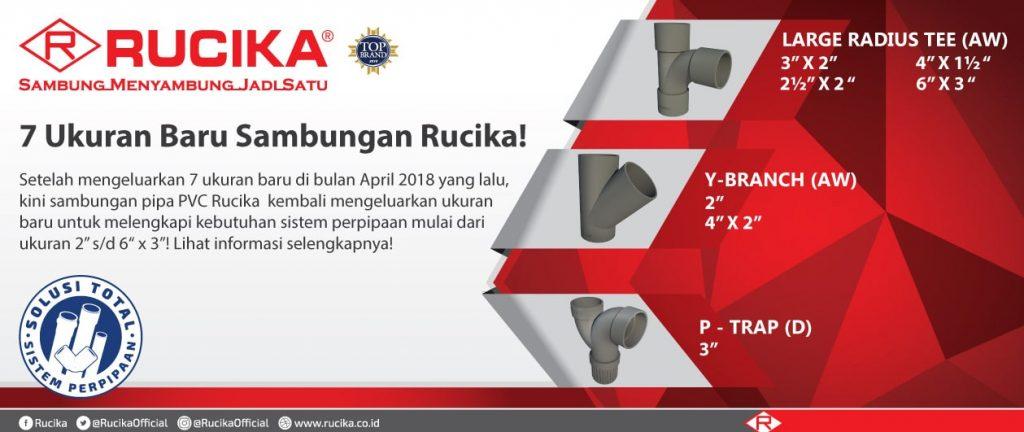 7 Ukuran Baru Sambungan Rucika!