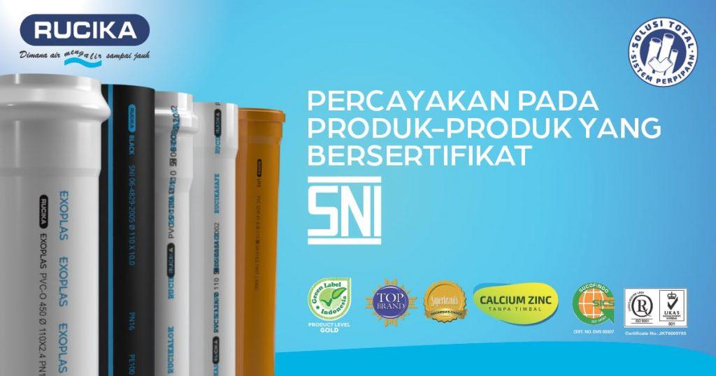 Produk Pipa Rucika Standard SNI