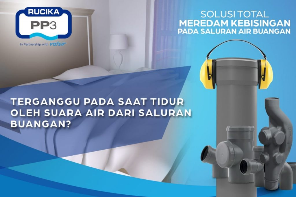 Rucika PP3 silent pipe anti bising untuk hotel