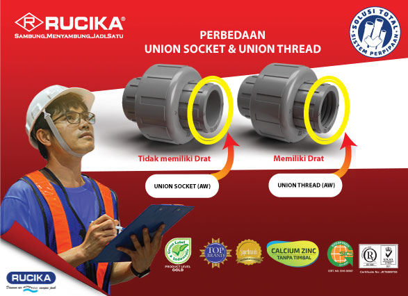 MENGENAL FITTING UNION SOCKET & UNION THREAD