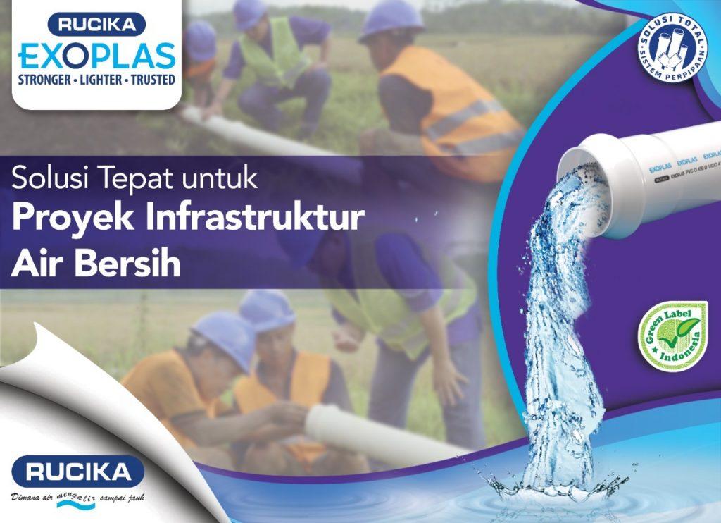 Rucika Exoplas Dukung Pembangunan Infrastruktur Air Bersih