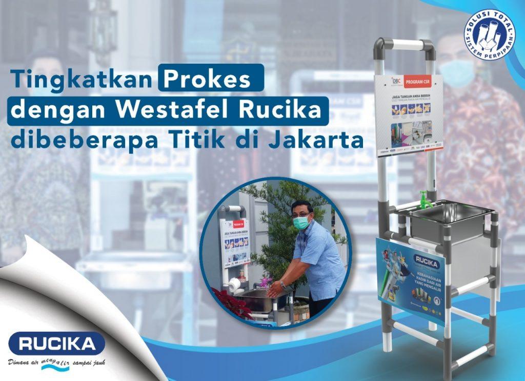 Sehat, Senang dan Bersih Dengan Wastafel Portable Rucika di Berbagai Titik di Jakarta
